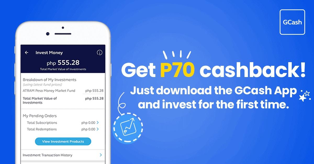 Invest Money, Get P70 Cashback! - GCash